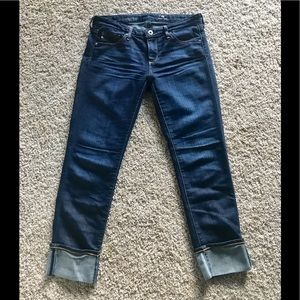 AG Jeans. 'The Stevie Cuff' Md.Wash, mid-rise